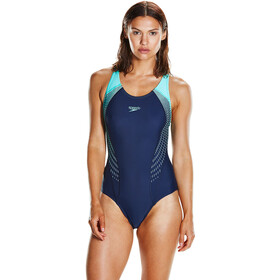 speedo Fit Laneback Swimsuit Dam navy/spearmint/vita grey